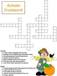 autumn crossword puzzles