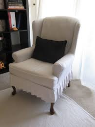 furniture unique black and white wingback chair slipcover with 2