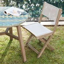 Textilene Patio Furniture by Portside Folding Textilene Bistro Chair Weathered Grey West Elm Au