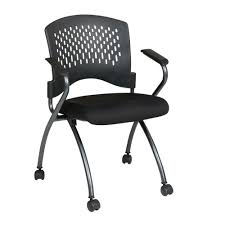 pro line ii coal freeflex rolling visitor office chair set 2