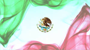 Mexican Flag Cartoon Mexican Flag Formed With Red Green Smoke White Background