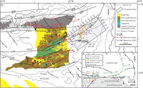 Map Of Trinidad Late Holocene Strike Slip Offset Of A Subsurface Channel