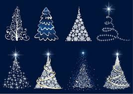 abstract christmas tree vector set free vector in encapsulated