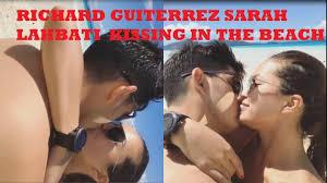 Richard Gutierrez Bench Richard Gutierrez And Sarah Lahbati Kissing At The Beach Youtube