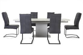 Napoli Dining Table Napoli 1 6 2 4m Ext Dining Table Light Grey 6x Bloom Chairs