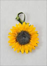 real sunflower ornaments sunflower dipped in lacquer