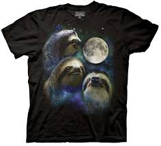Three Wolf Shirt Meme - three wolf moon shirt parody three sloth moon shirt 100 cotton