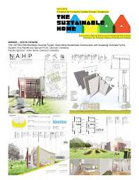 sustainable home design amazing sustainable home clemson graduate students win habitat for