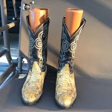 s boots style tony lama vintage s cowboy boots snake skin leather boa python