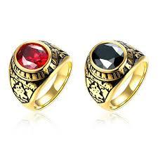 fashion rings men images Boys rings men ring stainless steel boss rings gold plated big gem jpg