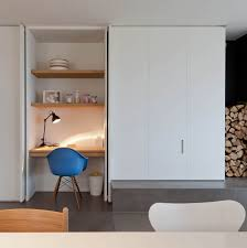 desk incorporated into kitchen cabinet study nook pinterest