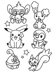 pokemon coloring pages chimchar coloring page