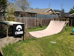 my backyard 5 5ft half pipe i built alone bmx