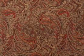 robert allen patna paisley tapestry upholstery fabric in spice
