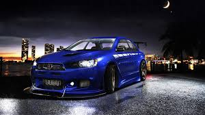 blue mitsubishi lancer simplywallpapers com mitsubishi lancer evolution x blue cars cars