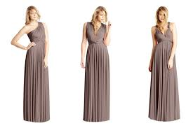 bridesmaid dresses by two birds taupe
