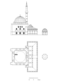 Floor Plan With Elevation by Floor Plan And Elevation Of Haci Ahmed Pasa Mosque Archnet