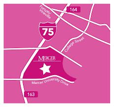 Mercer University Map Susan G Komen Central Georgia Maps Parking U0026 Accommodations