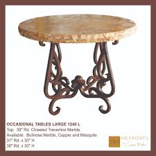 marble base table l occasional side large round table iron base chocolate finish