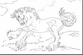 extraordinary cute cartoon horse coloring pages with horse