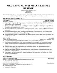 Assembly Line Resume Resume Writing Tips Pinterest Templates And Cover Assembly Line
