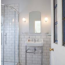 This Ensuite Shower Room Has A Vintage New York Feel Thanks To - Bathrooms with white tile