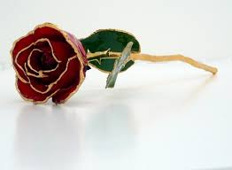 dipped in gold lacquer and gold dipped gold roses 24kt gold trimmed