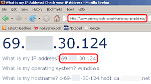 what is my up hide ip address in windows 7 and vista