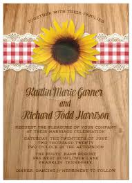 Wedding Invitations Rustic Wedding Invitations Rustic Gingham U0026 Lace Sunflower