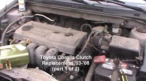 2003 toyota corolla clutch replacement toyota corolla clutch