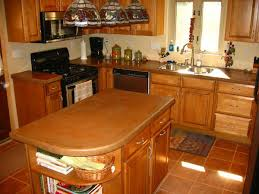 fascinating brown color kitchen concrete countertops with brown