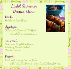 light summer dinner recipes and ideas for a summer dinner party