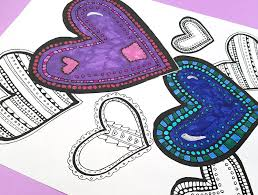 heart coloring free printable coloring adults