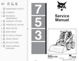bobcat 753 skid steer loader service manual pdf repair manual