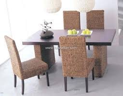 rattan dining room chairs with casters wicker furniture table and