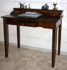 Schreibtisch Nussbaum Sekretär Schreibtisch Frisiertisch Pc Tisch Holz Massiv Kolonial