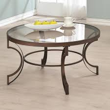 Round Glass Coffee Table by Table Superb Glass Coffee Table Metalworks Round Glass Top Light