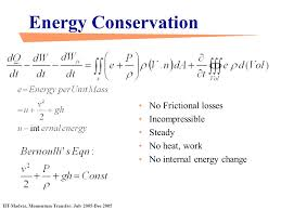 23 energy conservation no frictional losses incompressible steady