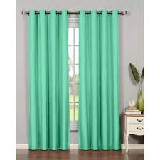 Curtains With Turquoise Turquoise Curtains Drapes Window Treatments The Home Depot