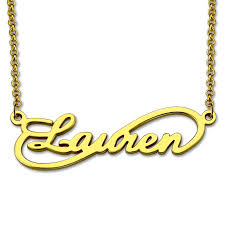 Infinity Name Necklace Online Shop Infinity Name Necklace Handmade Gold Color Single Name