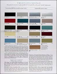 1979 lincoln continental u0026 mark v original factory paint chips