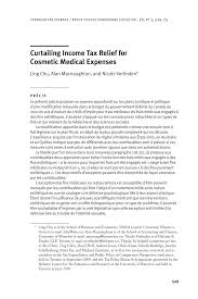 part i section 213 medical dental etc expenses rev curtailing income tax relief for cosmetic pdf download available