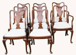 a set of walnut queen anne style dining chairs u2013 hogarths gallery