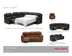 Lane Benson Sofa by Palliser Benson Seating Series 45 Degree Wedge Stargate Cinema