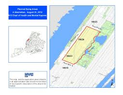 New York City Zip Code Map by West Nile Virus Spray 2012