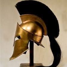 King Leonidas Costume Halloween Thick Plastic 300 Greek Roman Spartan Helmet King Leonidas Costume