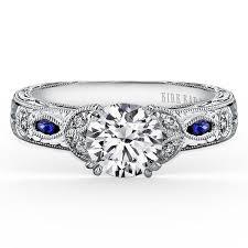white and black diamond engagement rings kirk kara dahlia marquise shape blue sapphire diamond engagement ring