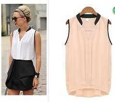 blouse wanita blusas femininas wanita kemeja kasual chiffon blouse o neck tanpa