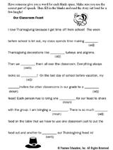 thanksgiving feast mad lib printable familyeducation