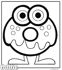 cute monster coloring pages to print monsters printable for kids